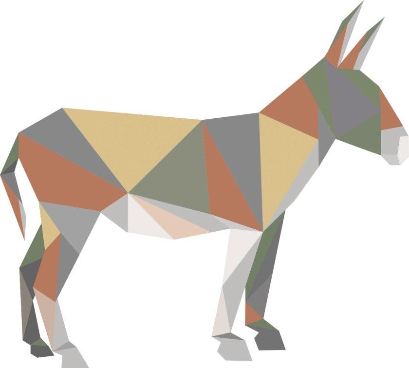 Esel-farbig